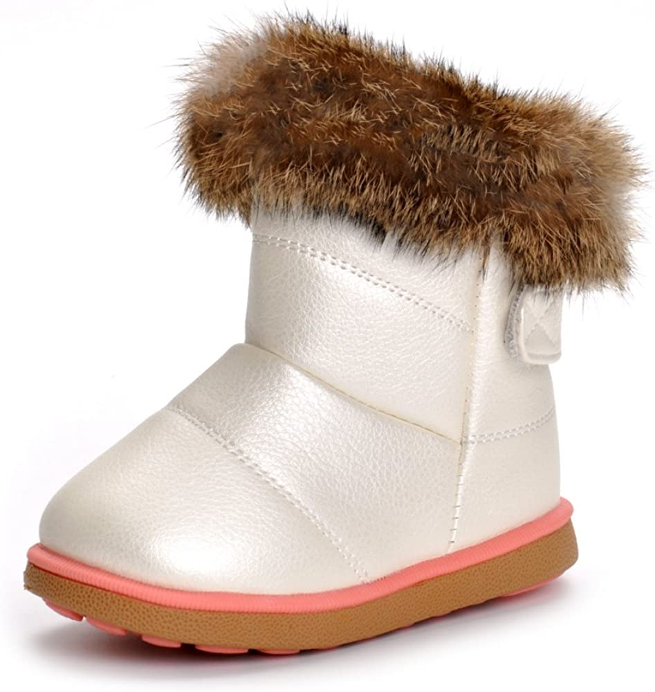 Matt Keely B/éb/é Hiver Chaussures Enfants Gar/çon Fille Bottes de Neige Bambin Peluche Bottines