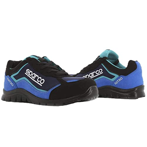 Sparco Zapatilla de Seguridad Nitro S3-SRC - Negro/Azul Claro TG.41-UK 7.5: Amazon.es: Zapatos y complementos