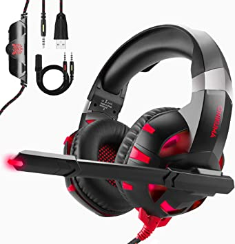 ESEYE Cascos Gaming para PS4 / PC/Xbox One, ONIKUMA Auriculares ...
