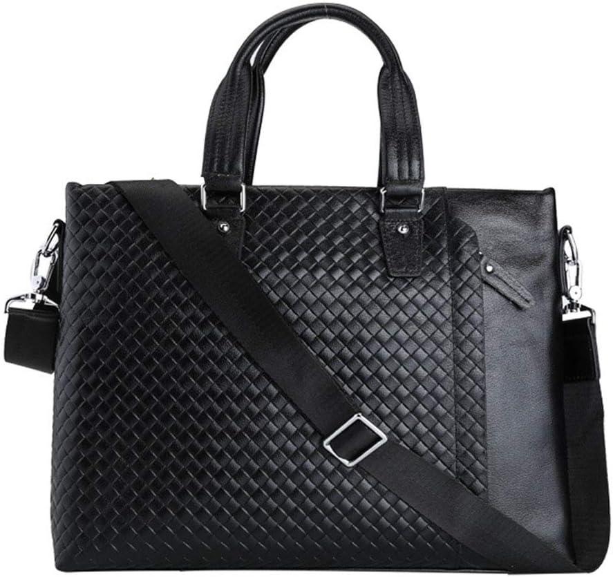 Shenghua1979 Mens Business Bag 17 Mens Laptop Briefcase Shoulder Bag Leather Messenger Satchel Retro Vintage Bag for Notebook//Compute Black Business Laptop Bag