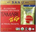 San J Organic Tamari Gluten Free Soy Sauce Travel Packs, 5 Ounce