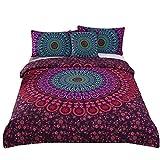 Sleepwish 4 Pcs Mandala Bedding Posture Million Romantic Soft Bedclothes Plain Twill Boho Bohemian Duvet Cover Set Twin Size