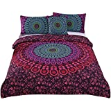 Sleepwish 4 Pcs Mandala Bedding Boho Hippie Bedspread Posture Million Romantic Soft Bedclothes Plain Twill Bohemian Duvet Covers Queen
