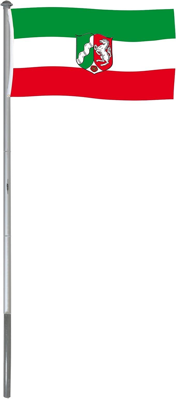 BRUBAKER Mástil Aluminio Exterior 6 m Incluye Bandera de Renania ...