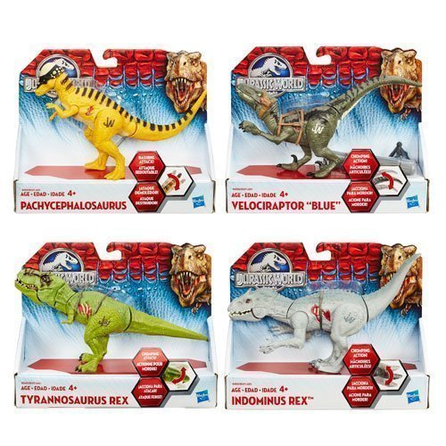 Jurassic World Bashers and Biters Dinosaur Figures Wave 4 Set of 4