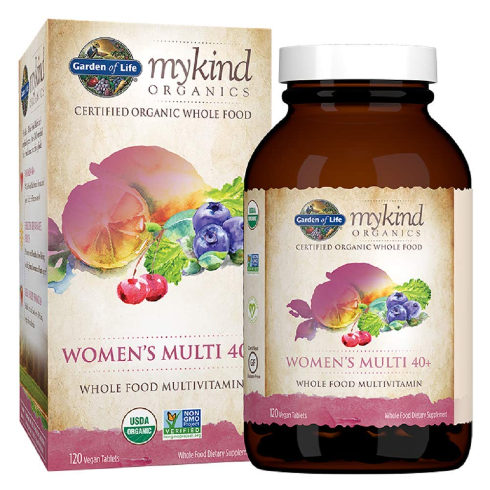 Garden of Life Multivitamin for Women - mykind Organic Women's 40+ Whole Food Vitamin Supplement, Vegan, 120 Tablets by Garden of Life