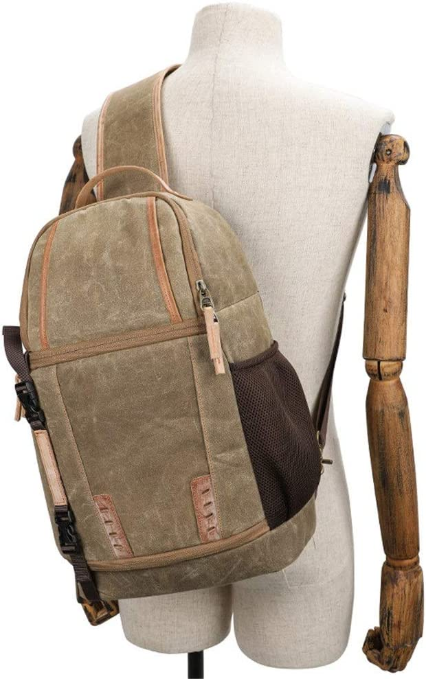 Mens Stylish Camera Backpack Retro Canvas Casual Knapsack DSLR Photography Shoulder Bag Outdoor Rucksack Hiking Travel Daypack Trendy Fashion Anti-Theft DSL Stylish Camera Backpack for Photographers