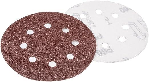 20Pcs 5-inch hook and loop sanding disc 180 grains Sandpaper flocking Random orbital sanding paper