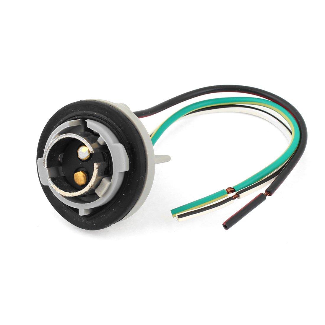 sourcingmap 1157 Socket Portalámparas de Luz de Freno Trasero 3 Cables Conector: Amazon.es: Coche y moto