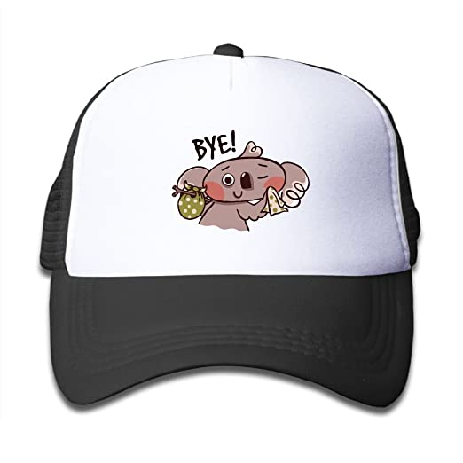 3630e8fe90a Amazon.com  Mesh Baseball Caps Snapback Hat Koala Bye Boys-Girl ...