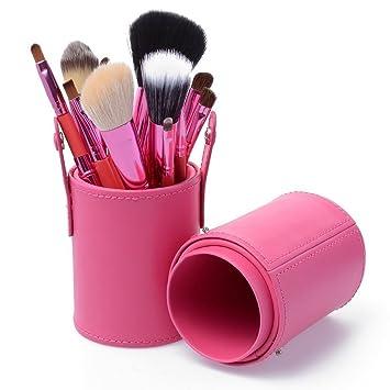 Amazon Com Laifeiya 12 Pieces Makeup Brush Holder Case Large