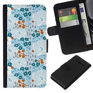 All Phone Most Case / Oferta Especial Cáscara Funda de cuero Monedero Cubierta de proteccion Caso / Wallet Case for Samsung Galaxy A3 // Winter Spring Flowers Wallpaper