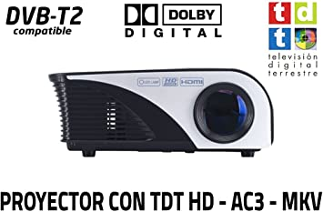 Proyector FULLHD Cine en casa portatil con TDT Unicview SG100 ...