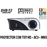 proyector con TDT Luximagen SV100 Blanco con TDT HD, USB ...