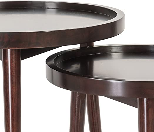 Monarch 3 Piece Table Set, Cappuccino