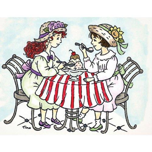 (Stampavie Tina Wenke Clear Stamp-Sweet Sharing 3-1/3