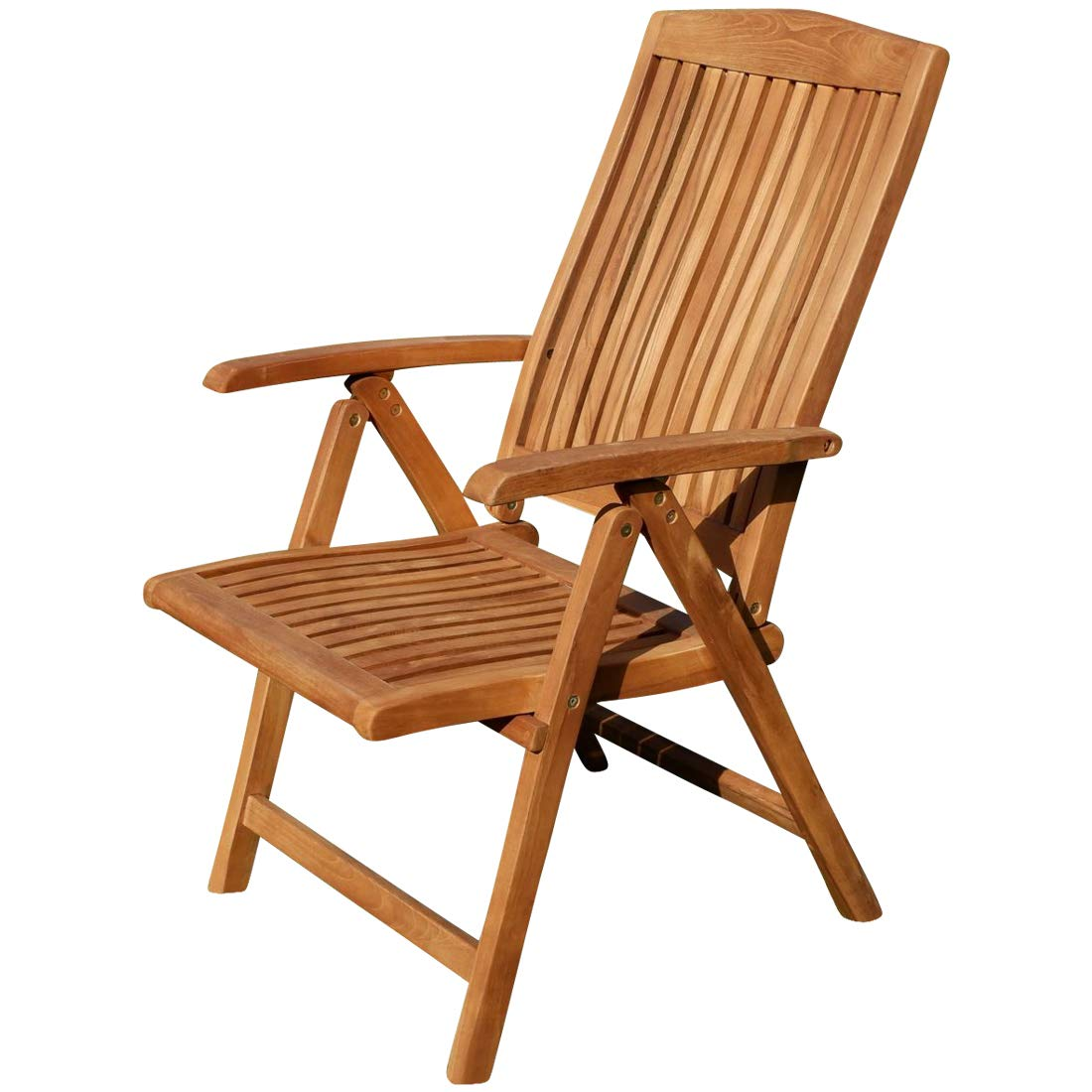 ASS Teak Design Hochlehner Gartensessel Gartenstuhl Sessel Holzsessel Klappsessel Gartenm/öbel Holz sehr robust 7fach-verstellbar Modell JAV-Tobago
