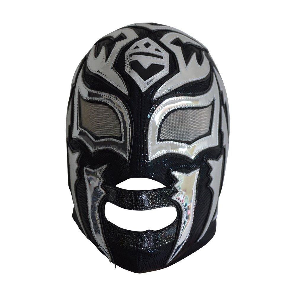 Deportes Martinez La Sombra Semi-Professional Lycra Lucha Libre Wrestling Mask for Adults Luchador Mask Black by Deportes Martinez