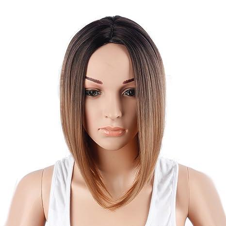 Hermosa y De Moda dama Natural Sombrero Corto Cabello Peluca Alto Calidad Chelín Corte de pelo