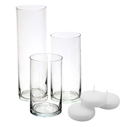Amazon Royal Imports Glass Cylinder Vases Set Of 3