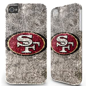 iPhone 4 4S Hard Cover Case - San Francisco 49ers Old Wall Grey