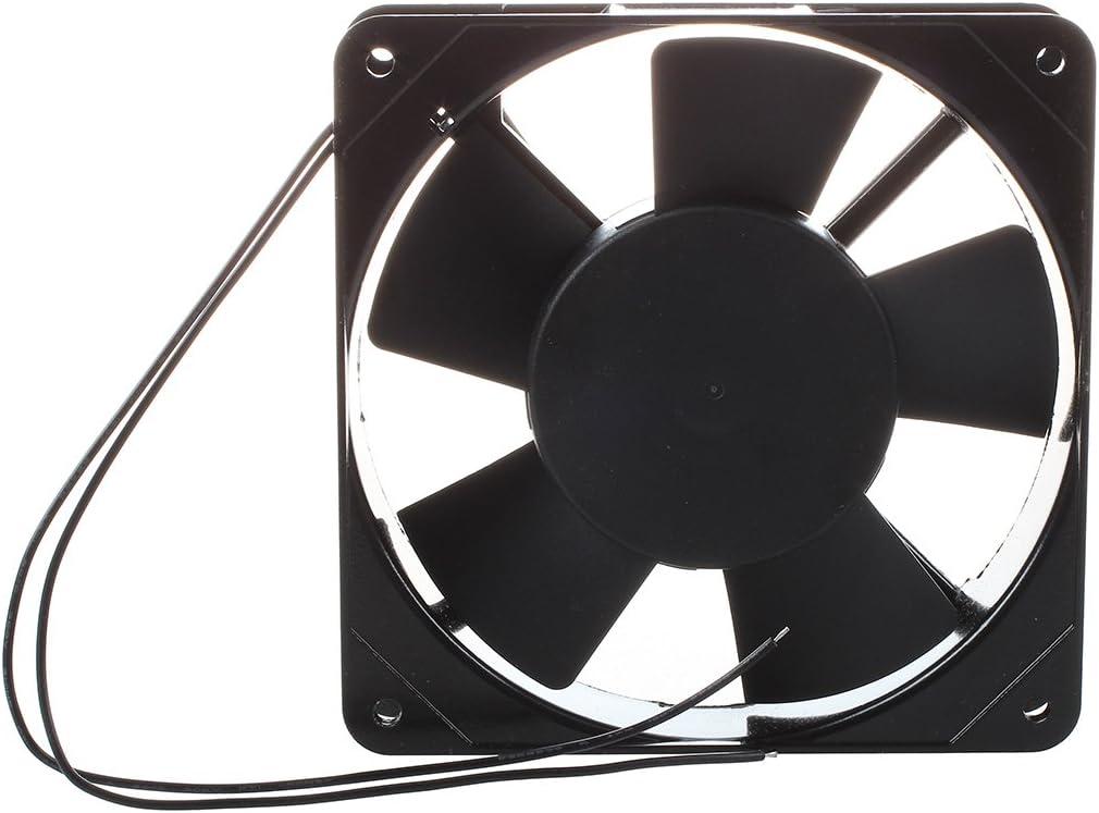 Ventilador Enfriador - SODIAL(R) AC 220V-240V 120x120x25mm ventilador de enfriamiento para PC Caja Refrigerador Negro