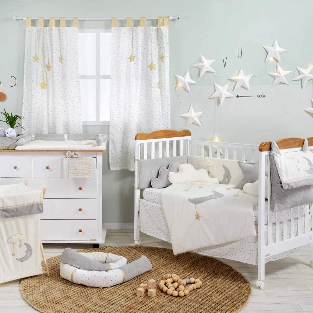 Baby 2PC Bedding Set Pillowcase Duvet Cover Nursery 70X80CM to FIT Crib Owls Moon Pink