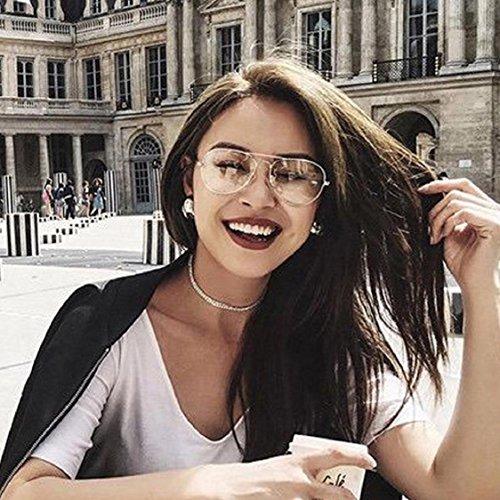 Ikevan 2017 Fashion Retro Men Women Clear Lens Glasses Metal Spectacle  Frame Myopia Eyeglasses Lunette Fe (Silver) - Buy Online in Oman. 6071cbd66f6e