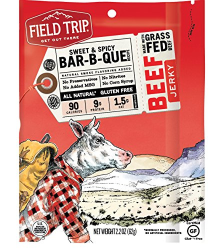 Field Trip All Natural Grass-Fed Beef Jerky, Sweet & Spicy, 2.2 Ounce ( Package may vary)