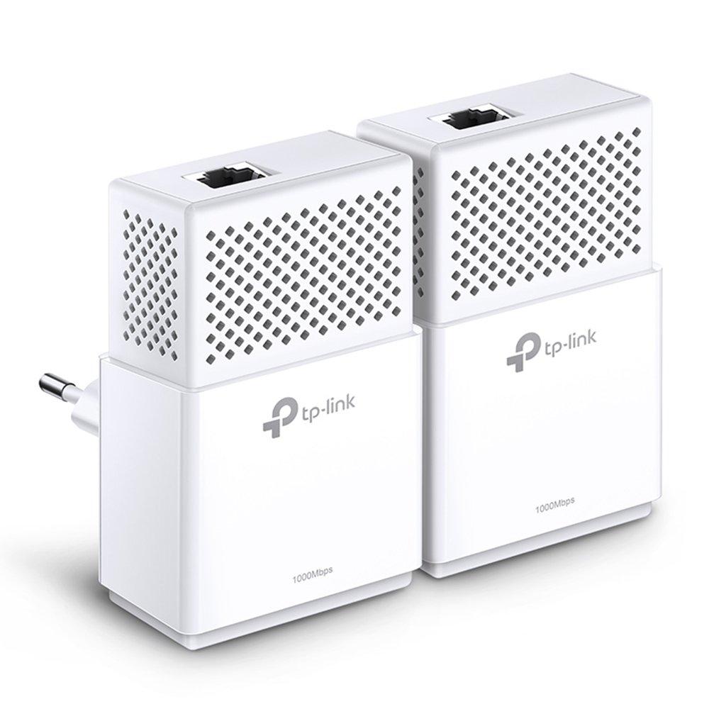 TP-link TL-PA7010Kit Powerline Starter Kit AV1000 Gigabit, 2 Porte Ethernet, Velocità fino a 1 Gbps, Standard Homeplug AV2, Installazione Facile Plug&Play, Risparmio Energetico