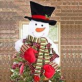 Christmas Tree Topper Snowman Hugger - Mingsu Xmas/Holiday/Winter Fanny Party Decoration Ornament Supplies(Large) - Green