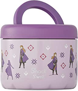 S'nack by S'well Stainless Steel Food Container - 24oz - Brave Princess - Double-Layered Insulated Bowls Keep Food and Drinks Cold for 12 Hours and Hot for 7 Hours