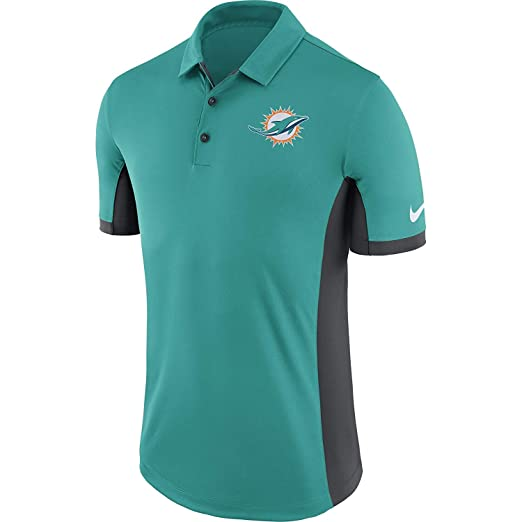 d7d2edd1 Amazon.com: Nike Men's Miami Dolphins Dry Polo Evergreen Turbo Green ...