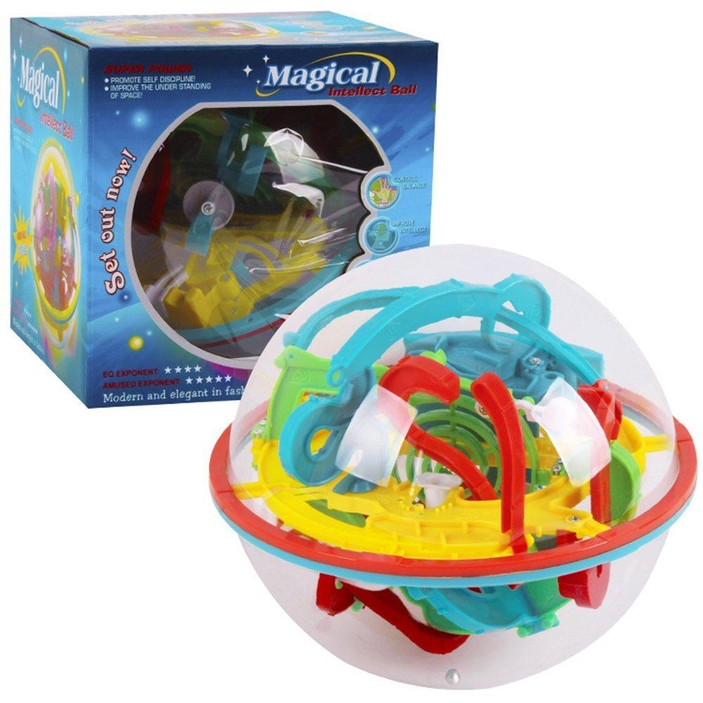 3D Labyrinth Ball - Bunt Gleichgewicht Puzzleball Spiel magische Puzzle für Erwachsene Kinder NEEGO