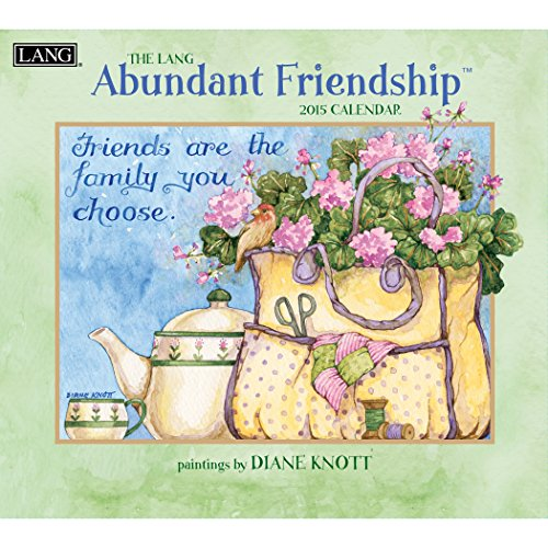 Lang January to December, 13.375 x 24 Inches, Perfect Timing Abundant Friendship 2015 Wall Calendar by Diane Knott (1001774)