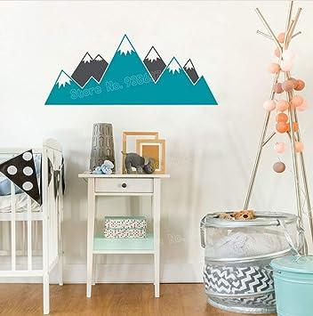 Multicolore Montagne Stickers Muraux Enfants Chambre