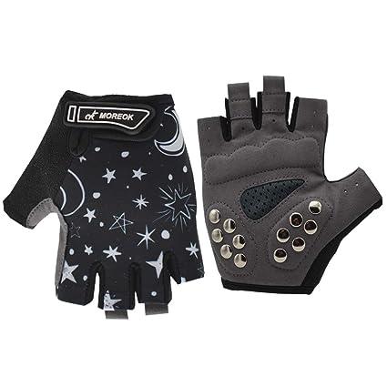 3b5b03b920c8 BIKINGMOREOK Children Half Finger Outdoor Sports Gloves Antiskid Protective  Suits Skateboard, Balance Bike Gloves (