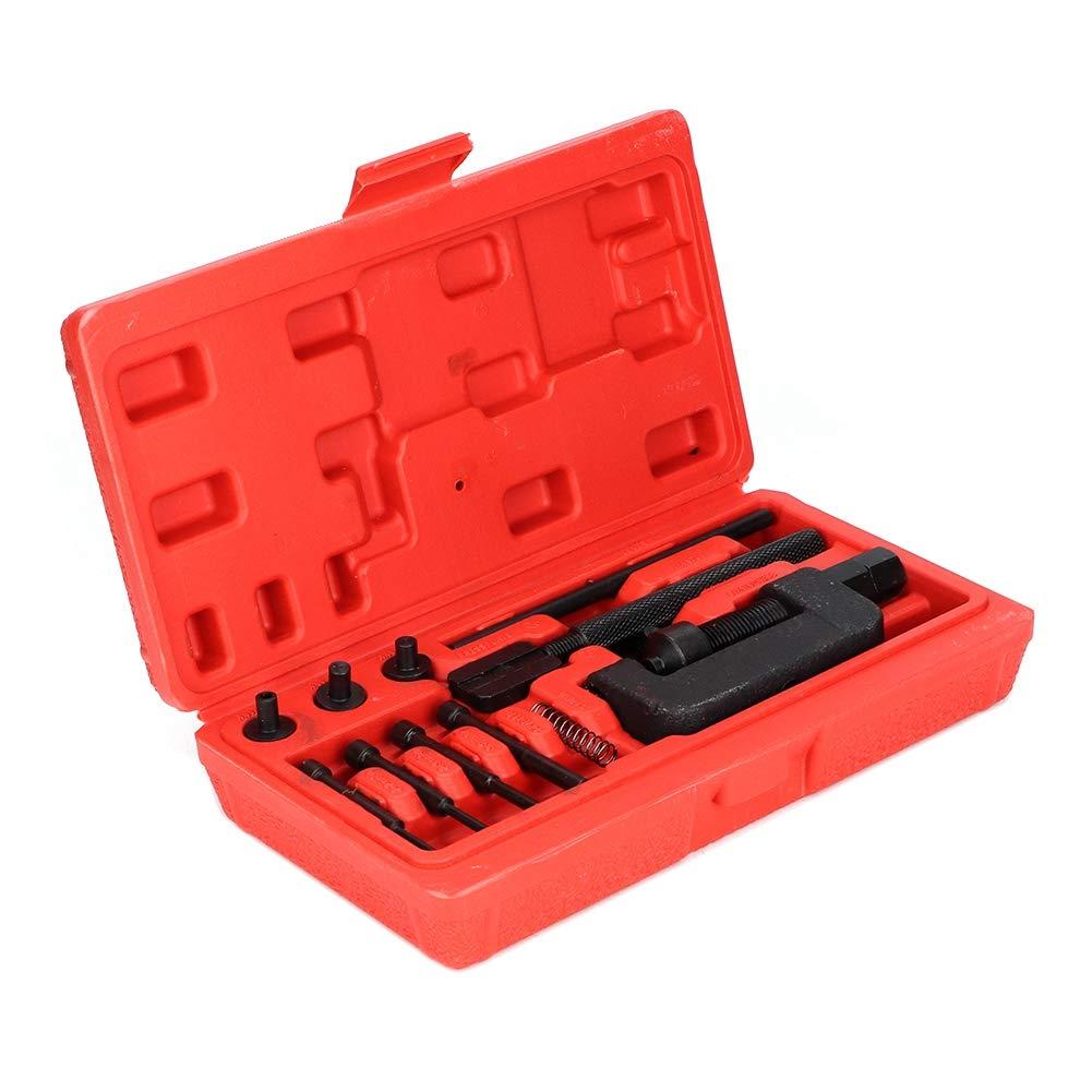remachador conjunto de herramientas de reparaci/ón de remachado divisor interruptor de cadena enlace bicicleta motocicleta Interruptor de cadena
