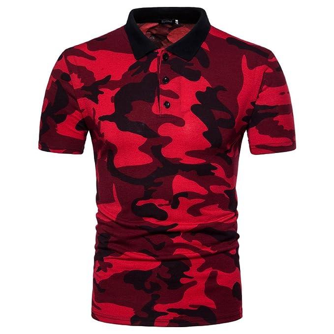 WINWINTOM Moda de Verano Camisetas, 2018 Camisetas y Polos De Hombre, Hombres Polo Camisa