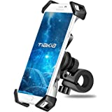 Bike Phone Mount Tiakia Anti Shake and Stable Cradle Clamp with 360° Rotation Bicycle Phone mount / Bike Accessories / Bike Phone Holder for iPhone for iPhone 7/7+/6/6+/6S/6S+/5S/5C, Samsung Galaxy S3/S4/S5/S6/S7/S8 Note 3/4/5,Nexus,HTC,LG & GPS Devices Android GPS Other Devices Between 3.5 to 6.5 inches