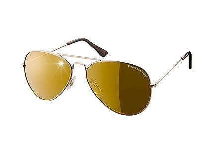 7b55ac6cb3 Amazon.com  Eagle Eyes Classic Aviator Sunglasses - Stainless Steel ...