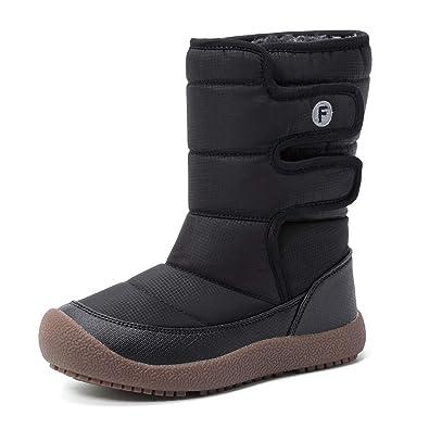 d595a91cbb0b Kinder Winterstiefel Jungen Mädchen Winterschuhe Schneestiefel Warm  Gefütterte Outdoor Stiefel Winter Schuhe Snowboots(Schwarz,