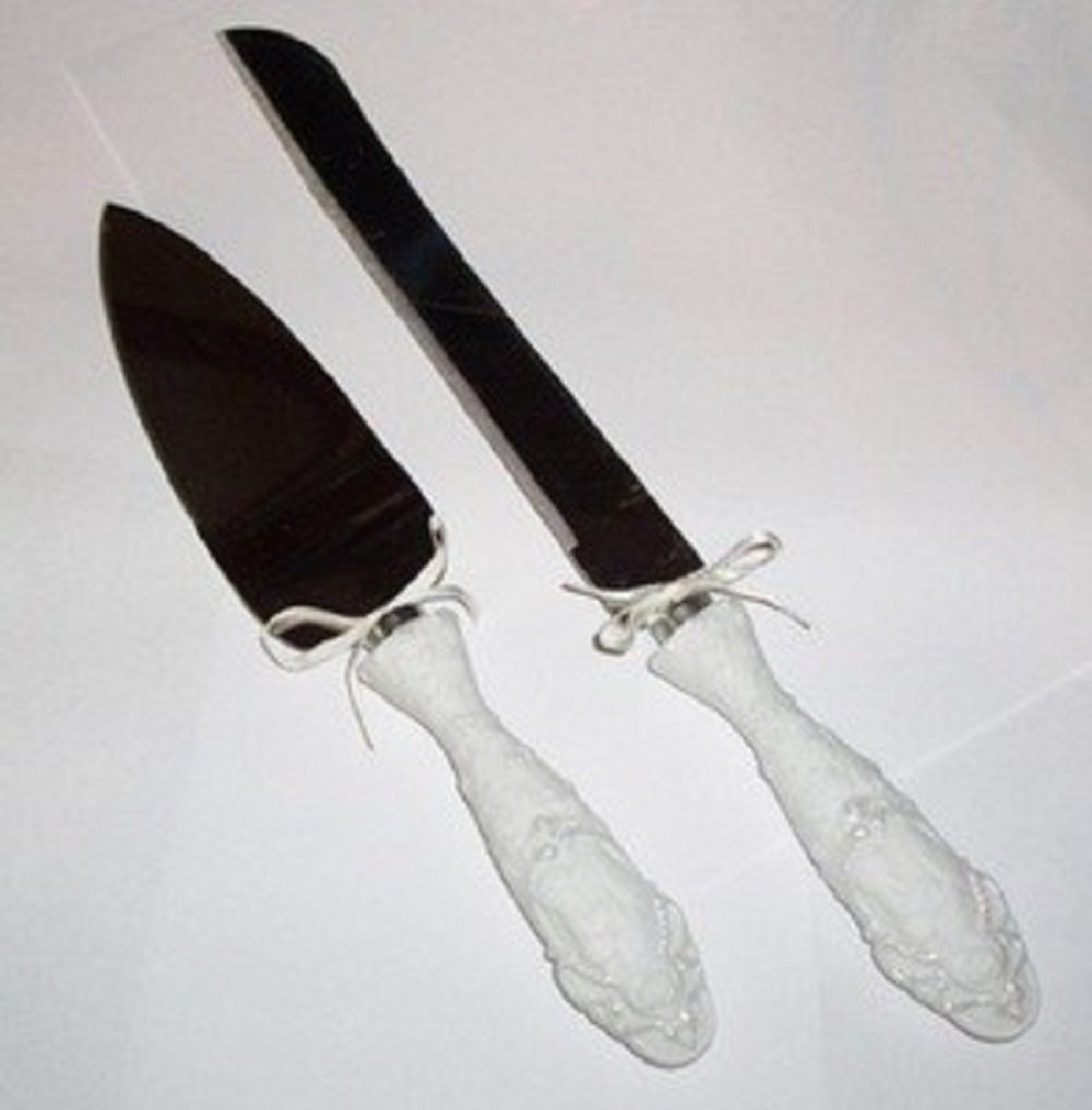 Precious Momentsケーキナイフとサーバーセットの2 135658   B07D6DPBMJ