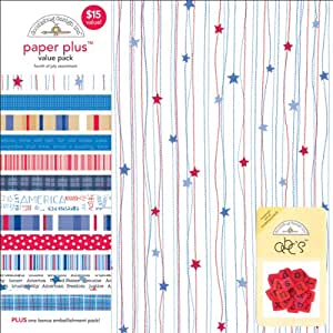 """DOODLEBUG Paper Plus Assortment Pack 12""""X12""""-4th of July"""