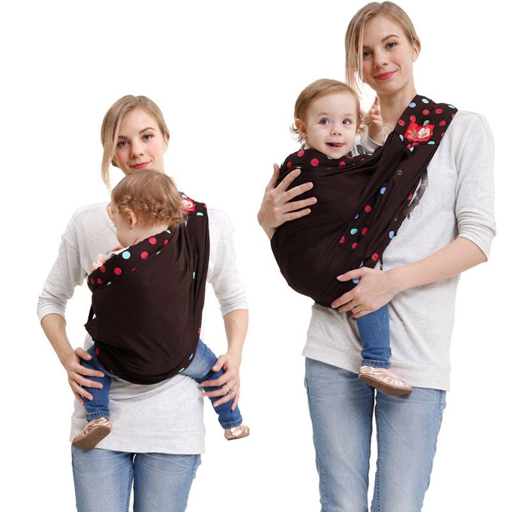 03effb20a558 Angelparty Echarpe de Portage   Porte-Bébé Bébé Enrouler Été Respirante   Réglable  Simple Épaule Élingue   Dots Concevoir   Convient pour 0-24 Mois Bébés ...