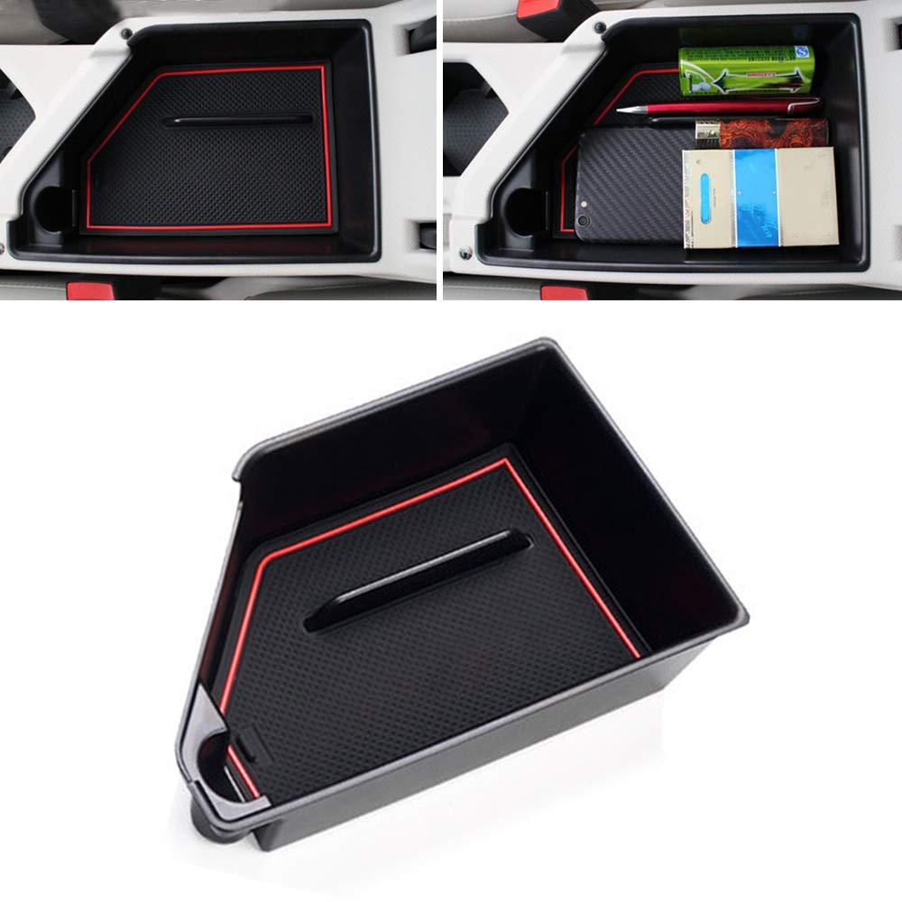 muchkey Car Accessory Center Console Organizer Glove Box Organizers ABS Tray Armrest Box for Tiguan L 2010-2017 Tharu 2019 NO FIT Tiguan L 330TSI