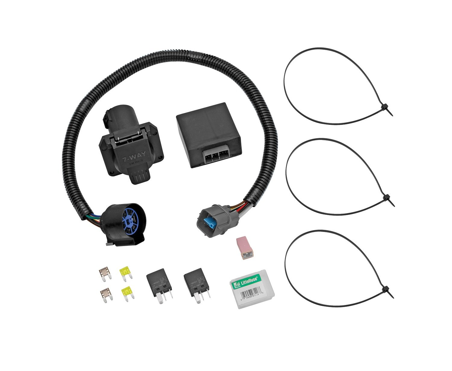 Amazon.com: Tekonsha 118253 7-Way Tow Harness Wiring Package with Circuit  Protected ModuLite HD Module: Automotive
