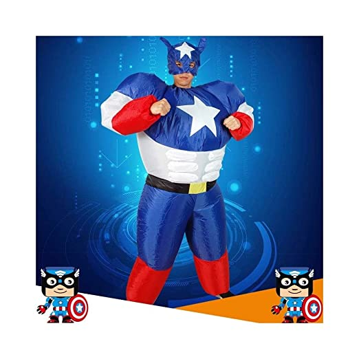 JZG Adulto Halloween Inflable Superman Capitán América Traje ...