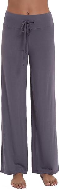 NEIWAI Women/'s Pajama Pants Bamboo Wide Leg Pjs Lounge Bottoms with Drawstring