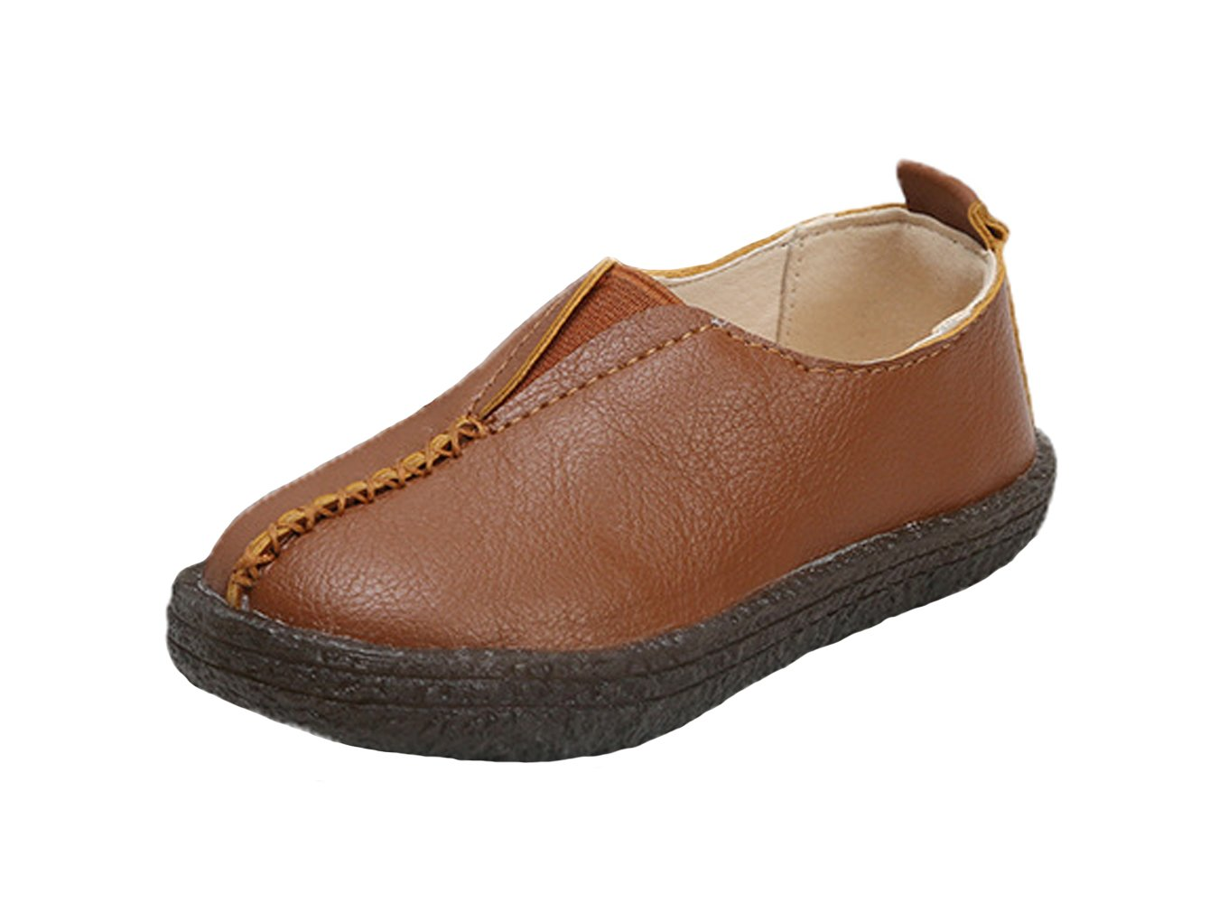 WUIWUIYU Boys' Girls' Slip-On Loafers Flats Oxfords Comfort Casual Walking Shoes Toddler Little Kid